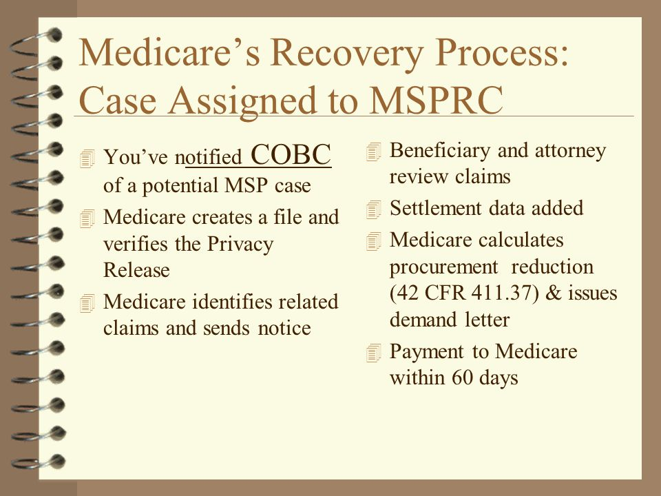 Medicare's Recovery Process: Case Assigned to MSPRC