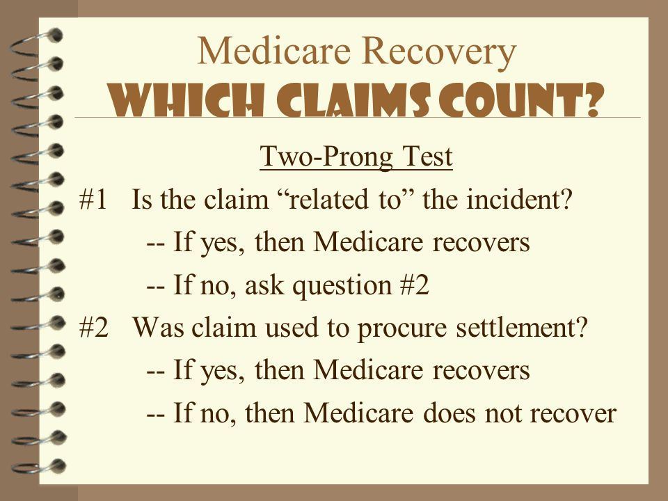 Medicare Recovery Which Claims Count