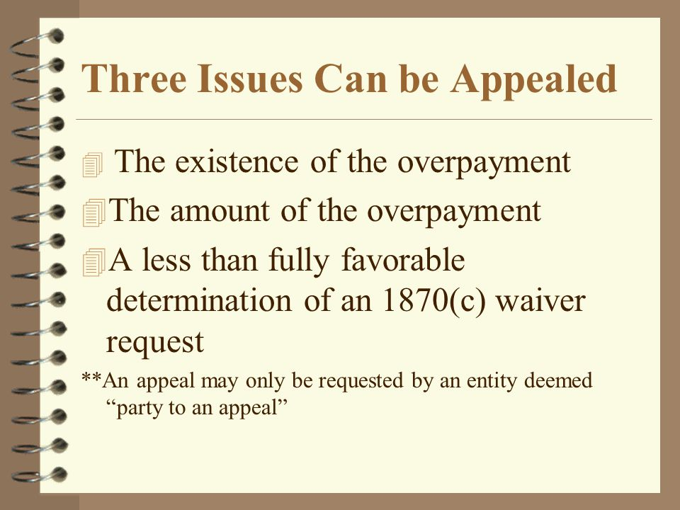 Three Issues Can be Appealed