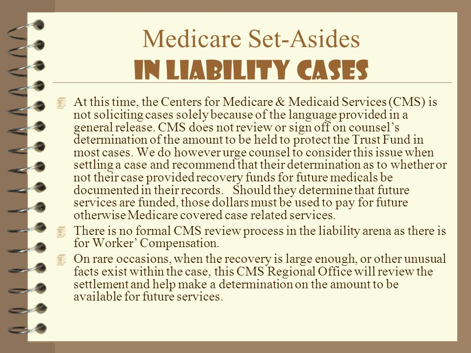 Medicare Set-Asides In Liability Cases