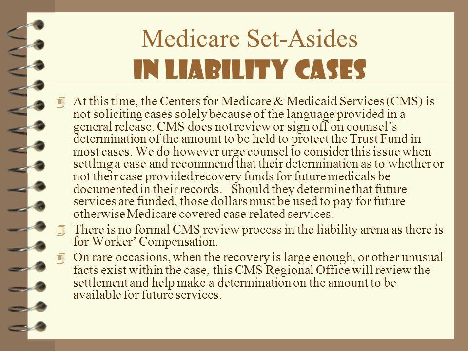 Medicare Set-Asides In Liability Cases