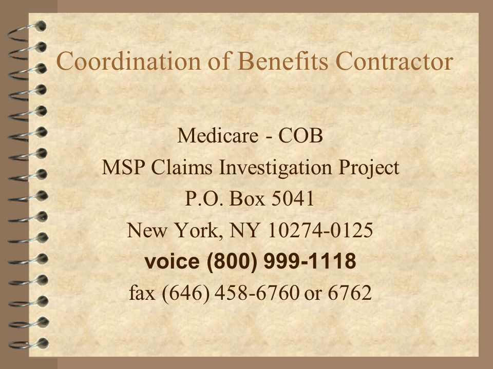 Coordination of Benefits Contractor