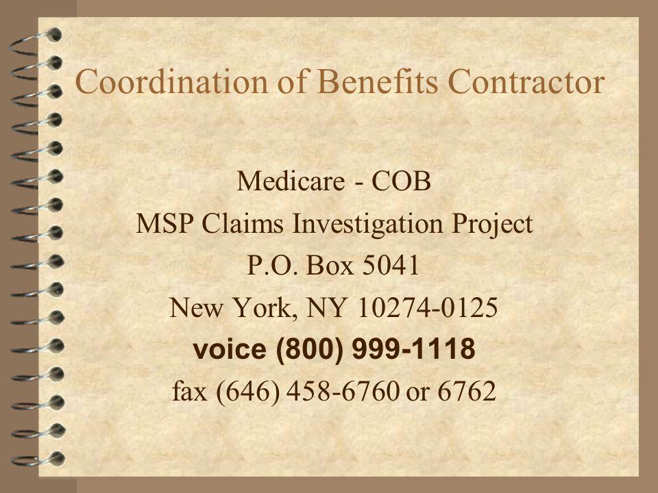 Coordination of Benefits Contractor