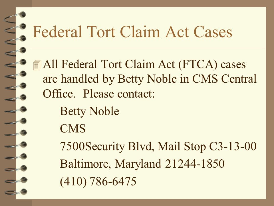 Federal Tort Claim Act Cases