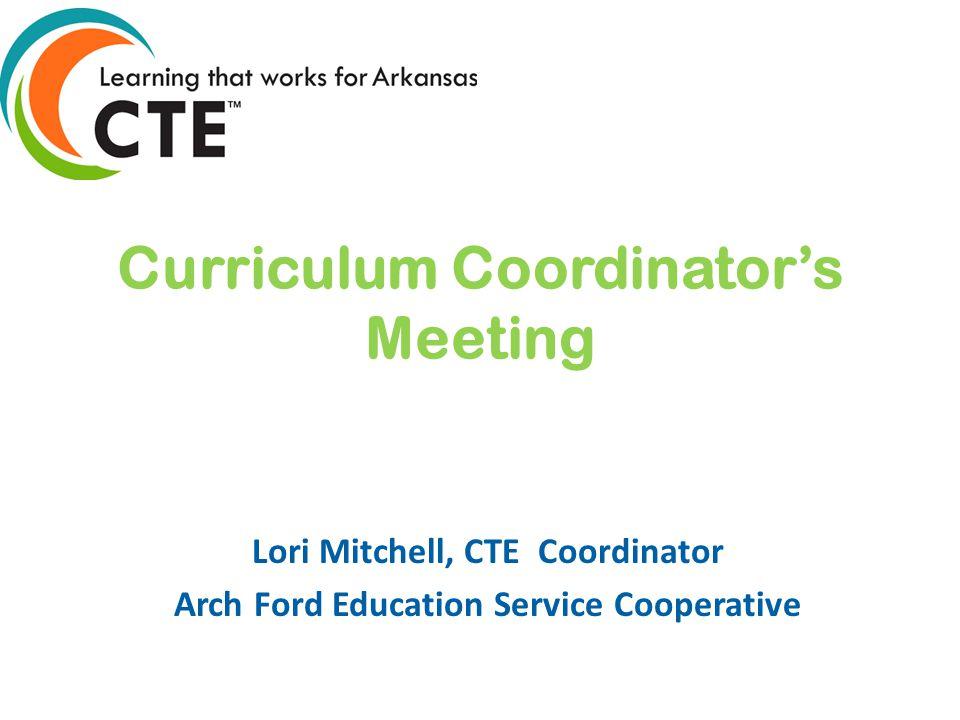 Curriculum Coordinator's Meeting