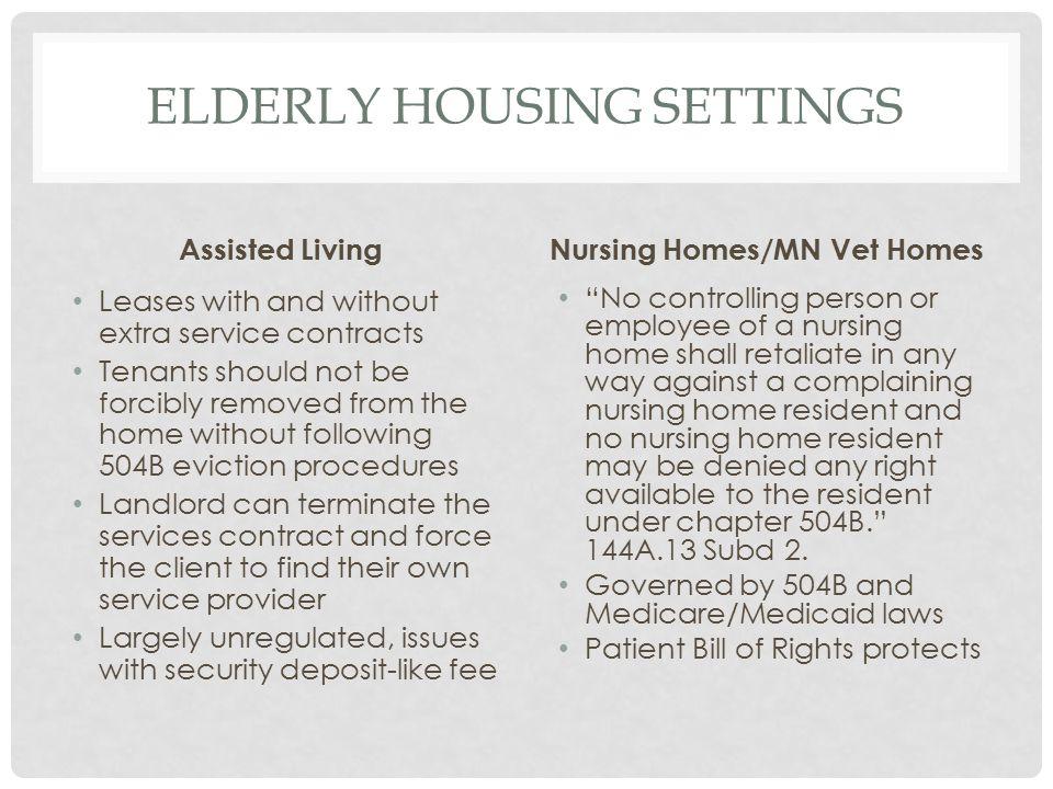 ELDERLY housing settings