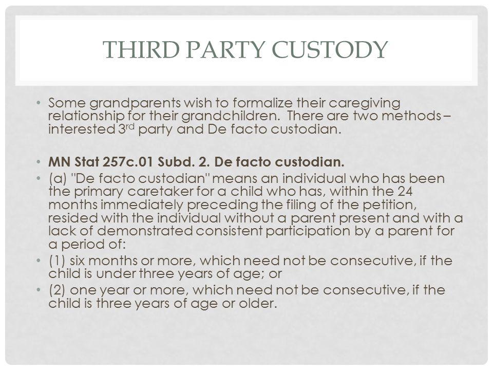 Third Party Custody
