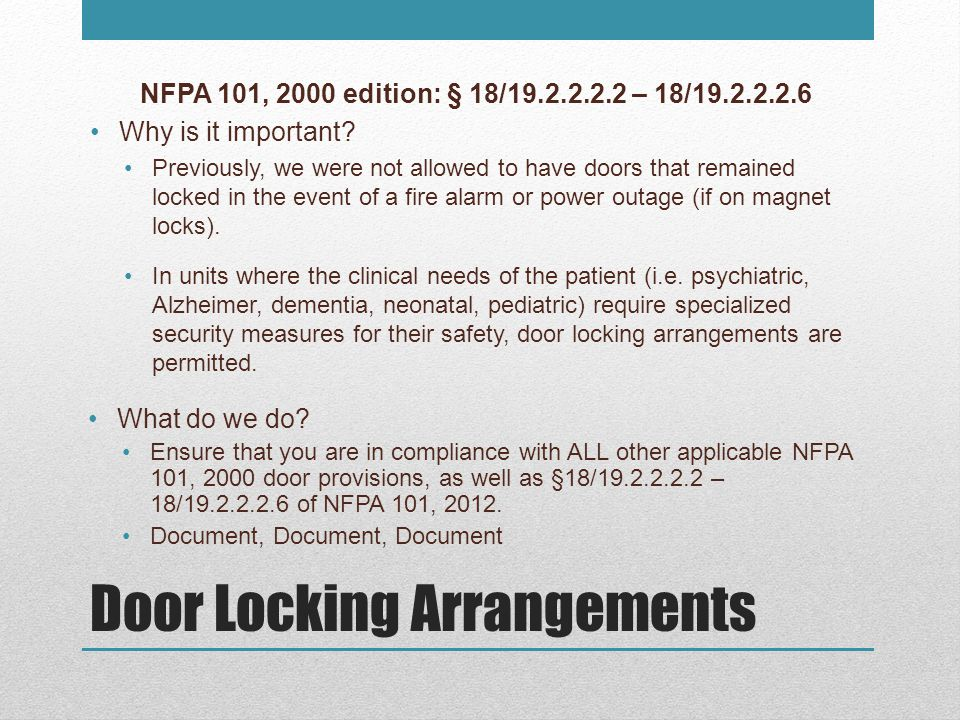 Door Locking Arrangements