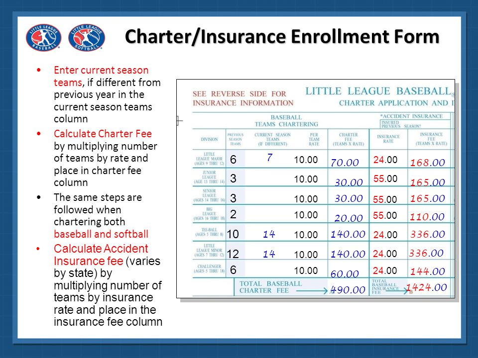 Charter/Insurance Enrollment Form