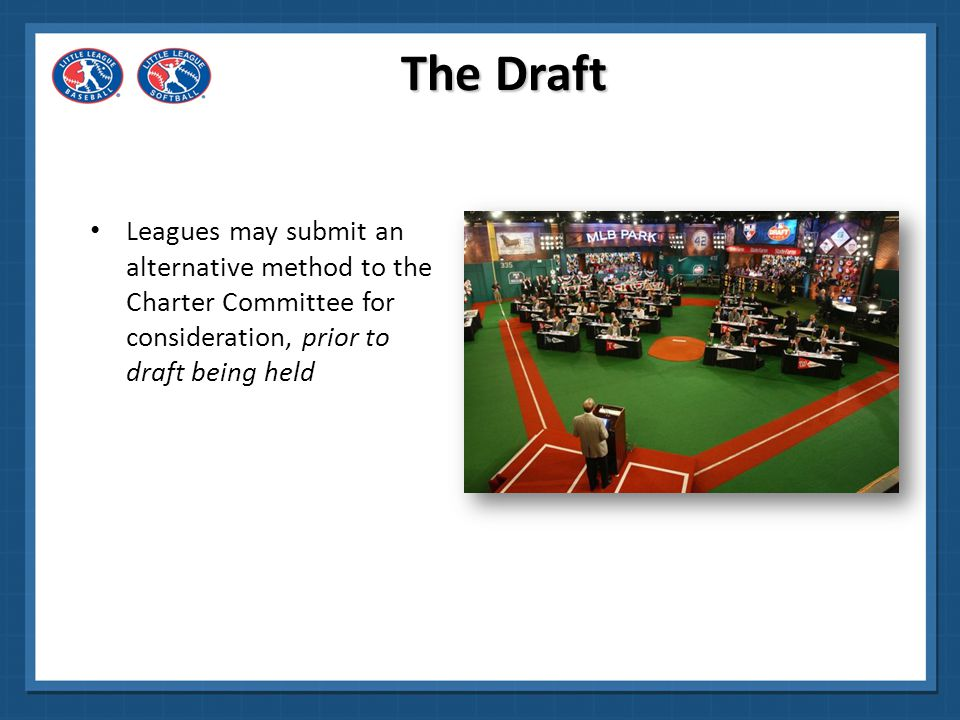 The Draft Leagues may submit an alternative method to the Charter Committee for consideration, prior to draft being held.