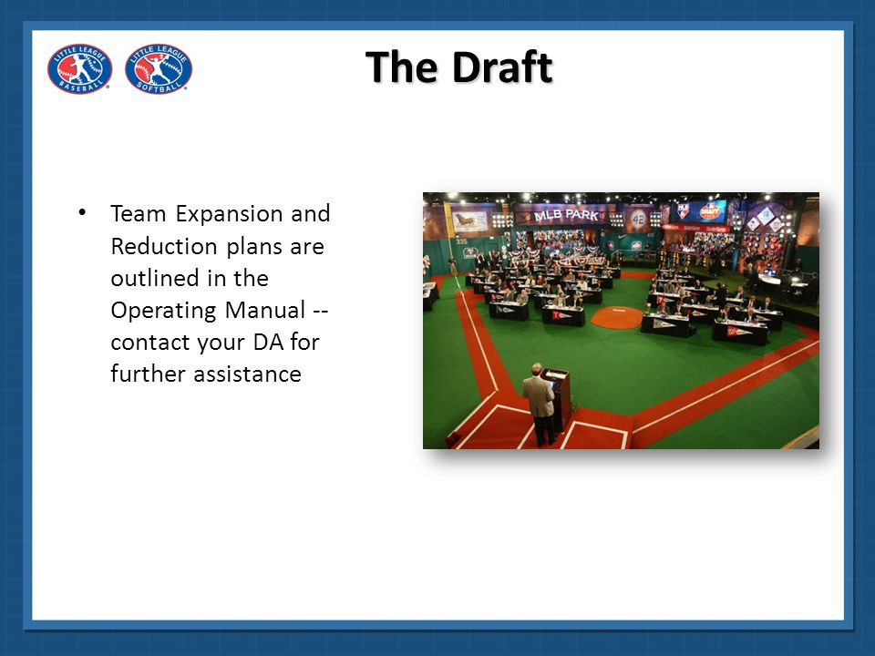 The Draft Team Expansion and Reduction plans are outlined in the Operating Manual -- contact your DA for further assistance.