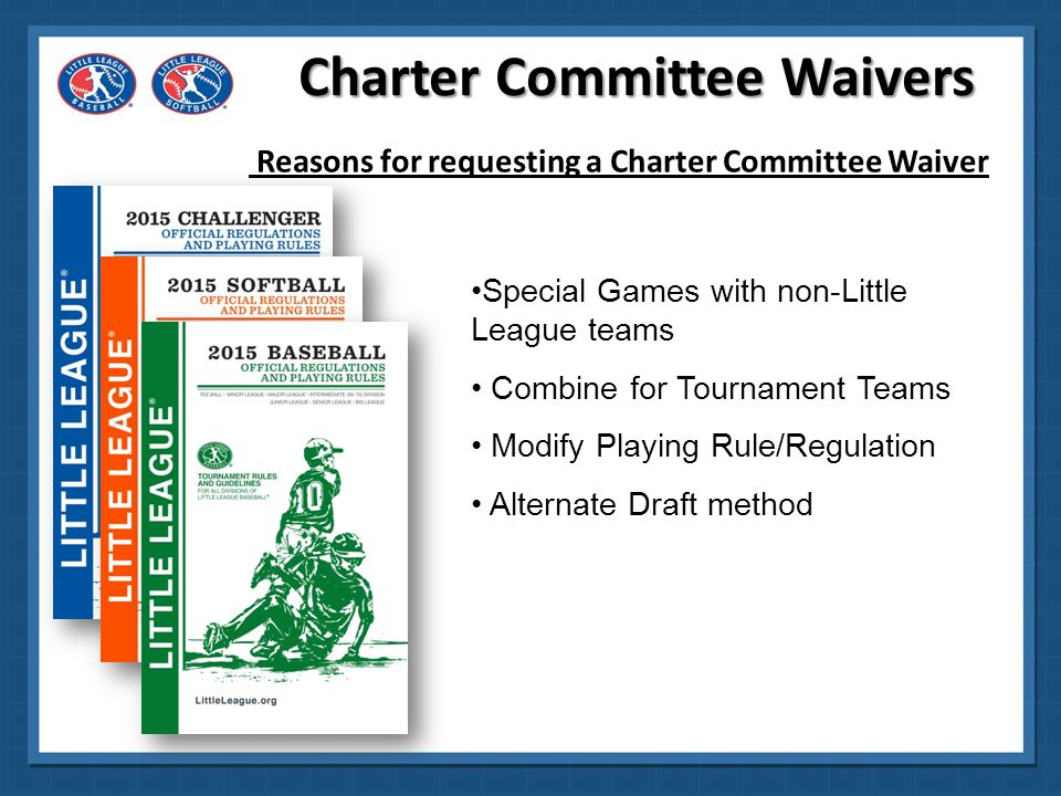 Charter Committee Waivers