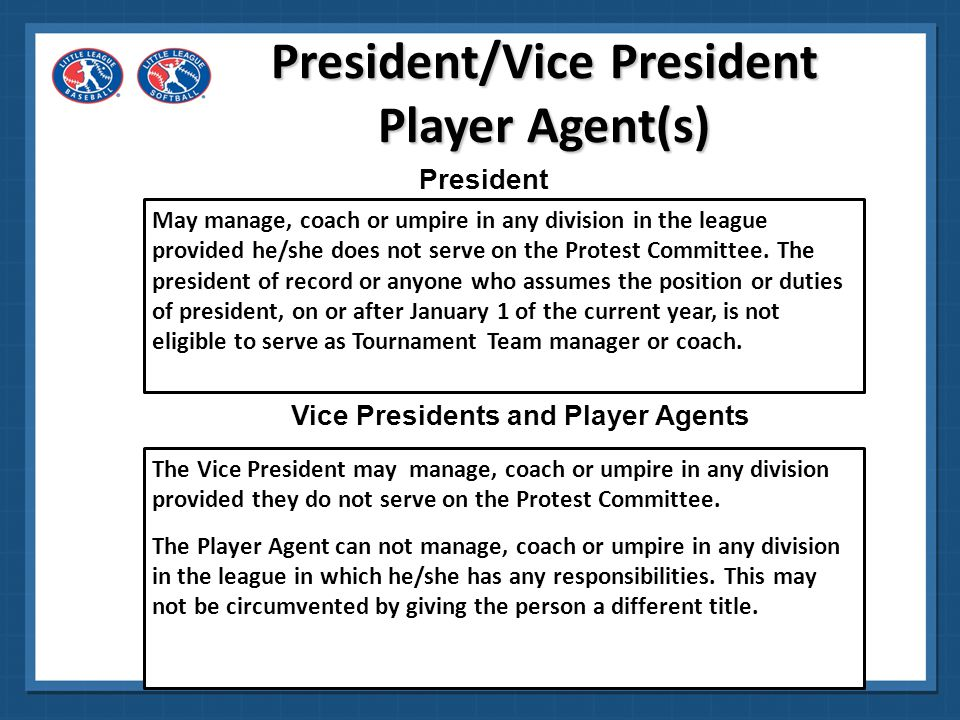 President/Vice President Player Agent(s)