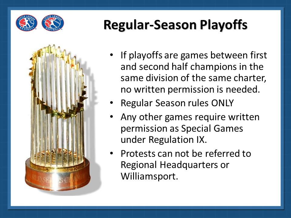 Regular-Season Playoffs