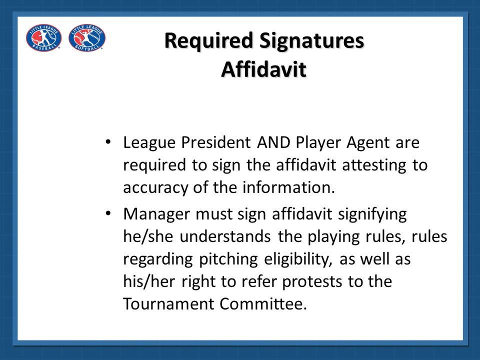 Required Signatures Affidavit