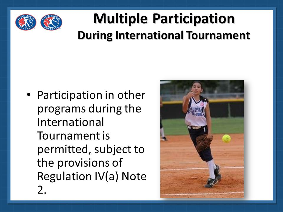 Multiple Participation During International Tournament