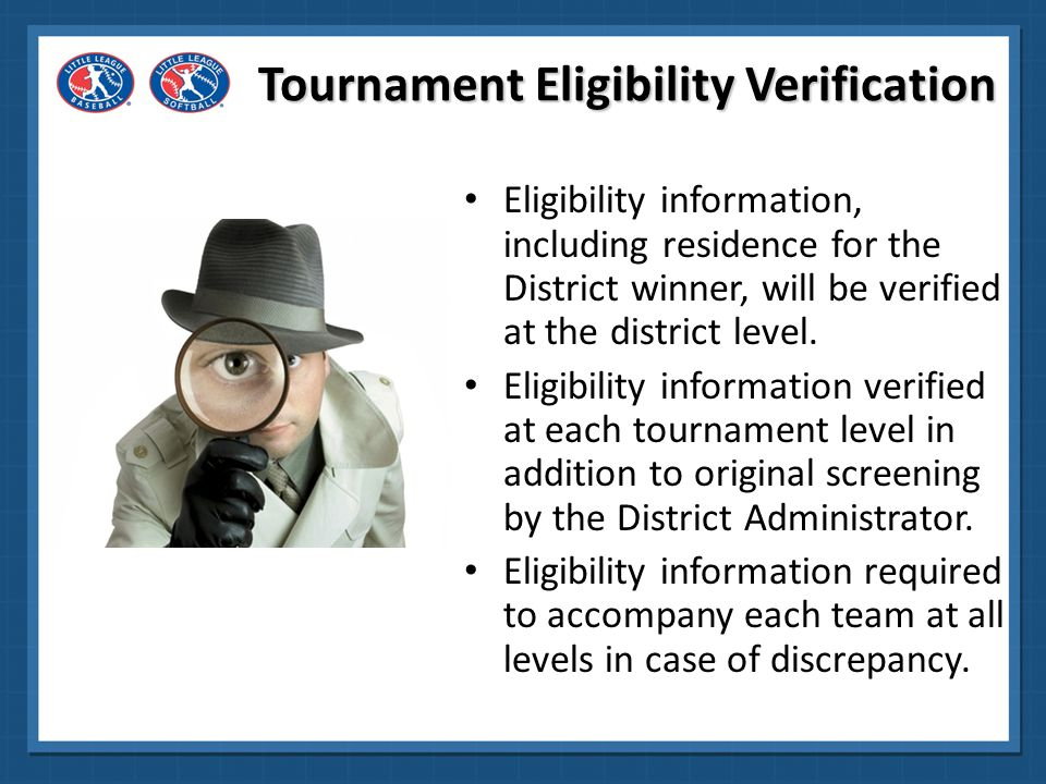 Tournament Eligibility Verification