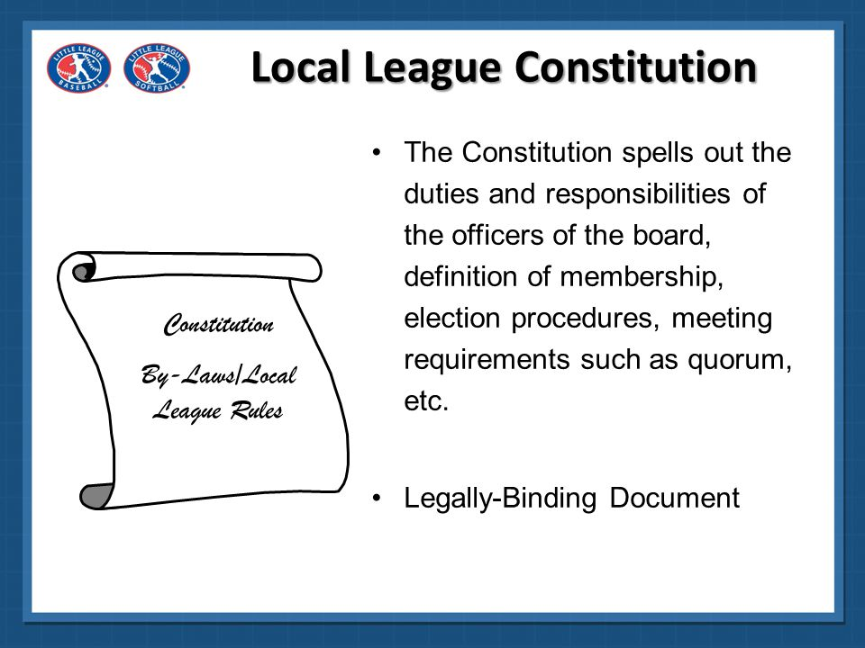 Local League Constitution