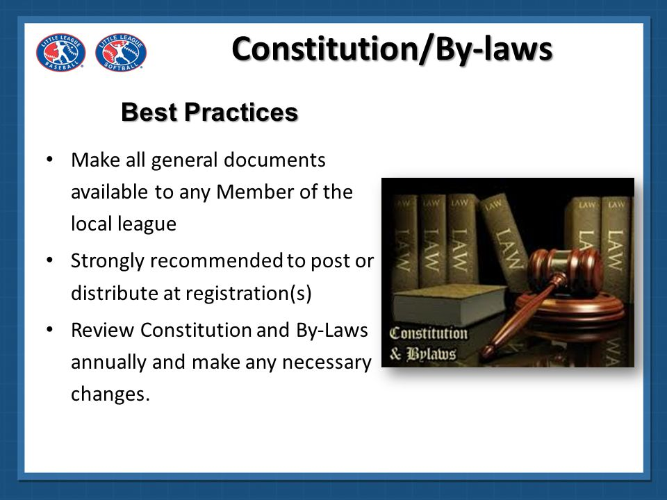 Constitution/By-laws