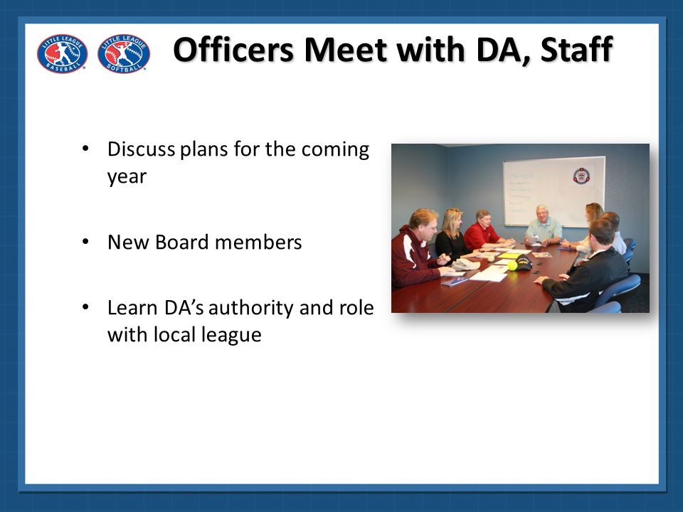Officers Meet with DA, Staff