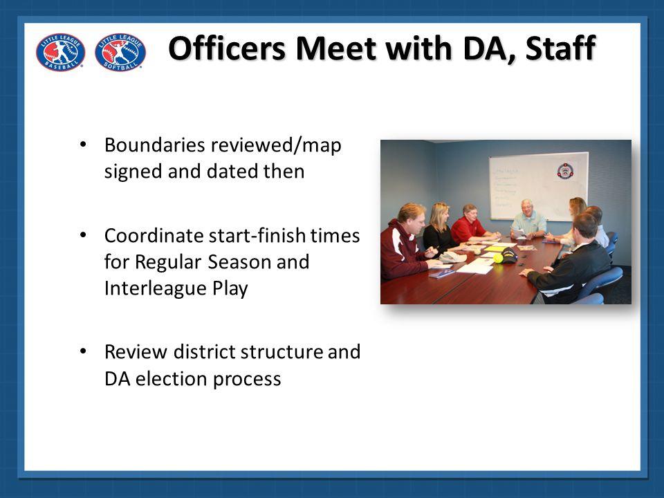 Officers Meet with DA, Staff