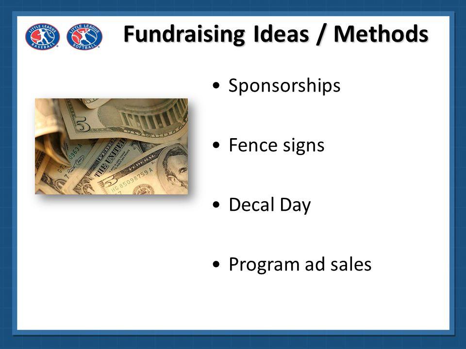 Fundraising Ideas / Methods