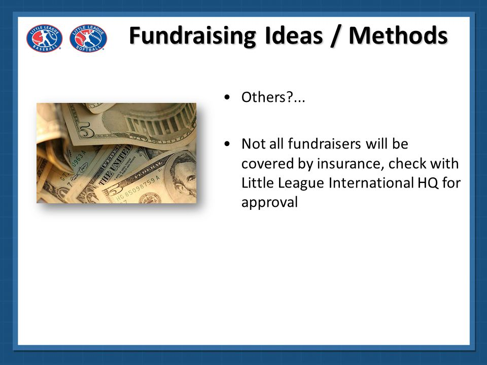 Fundraising Ideas / Methods