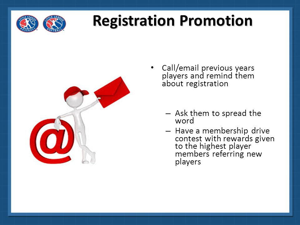 Registration Promotion