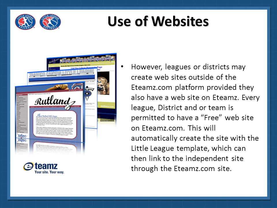 Use of Websites