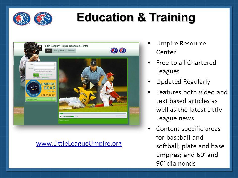 Education & Training Umpire Resource Center