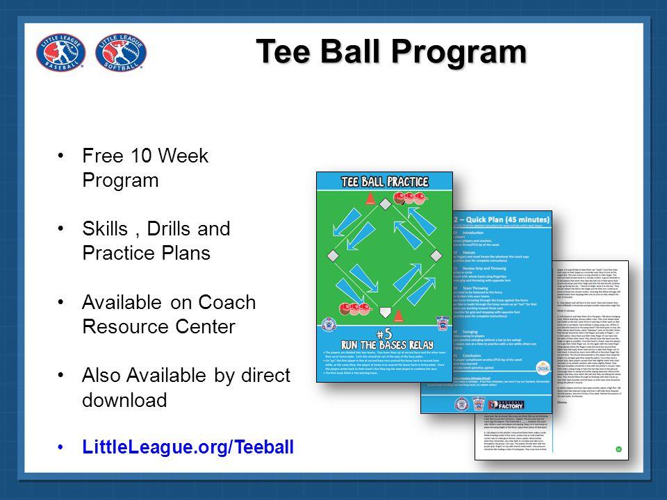 Tee Ball Program Free 10 Week Program