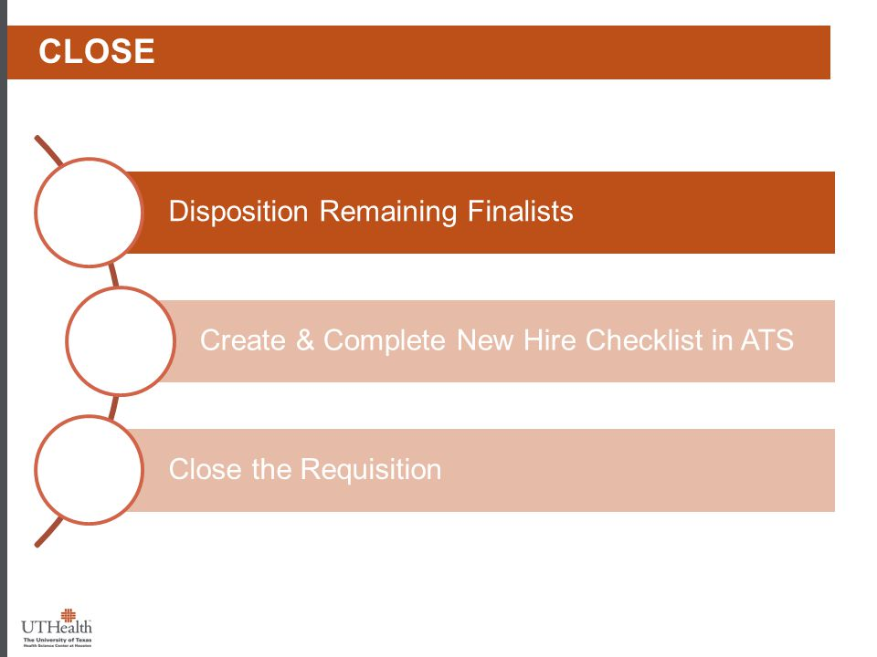 Phase I - Prep Close Create & Complete New Hire Checklist in ATS