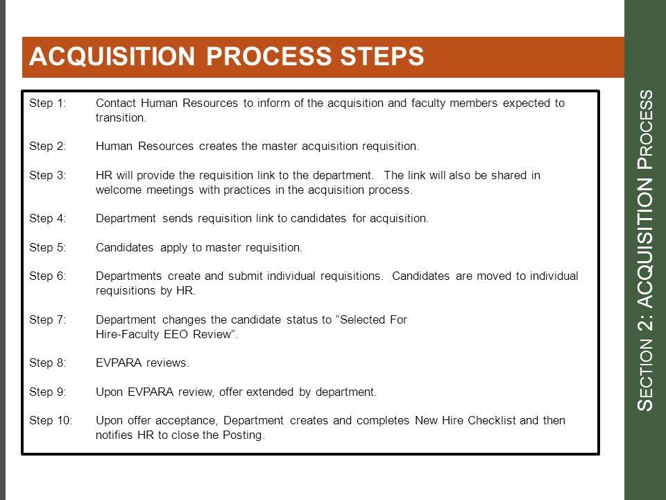 Section 2: ACQUISITION Process