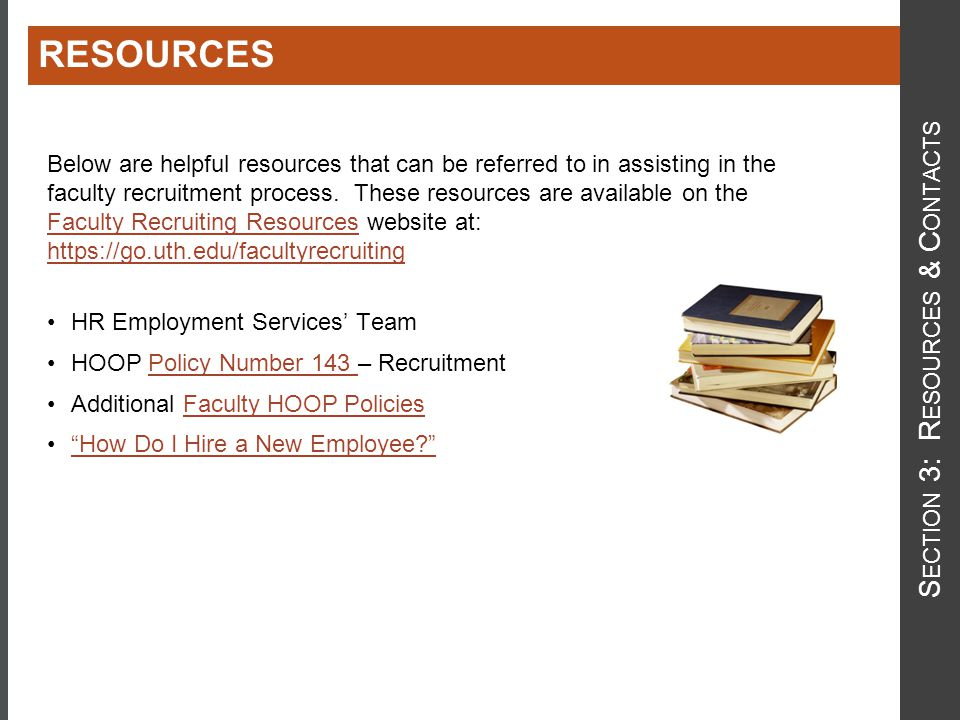 Section 3: Resources & Contacts