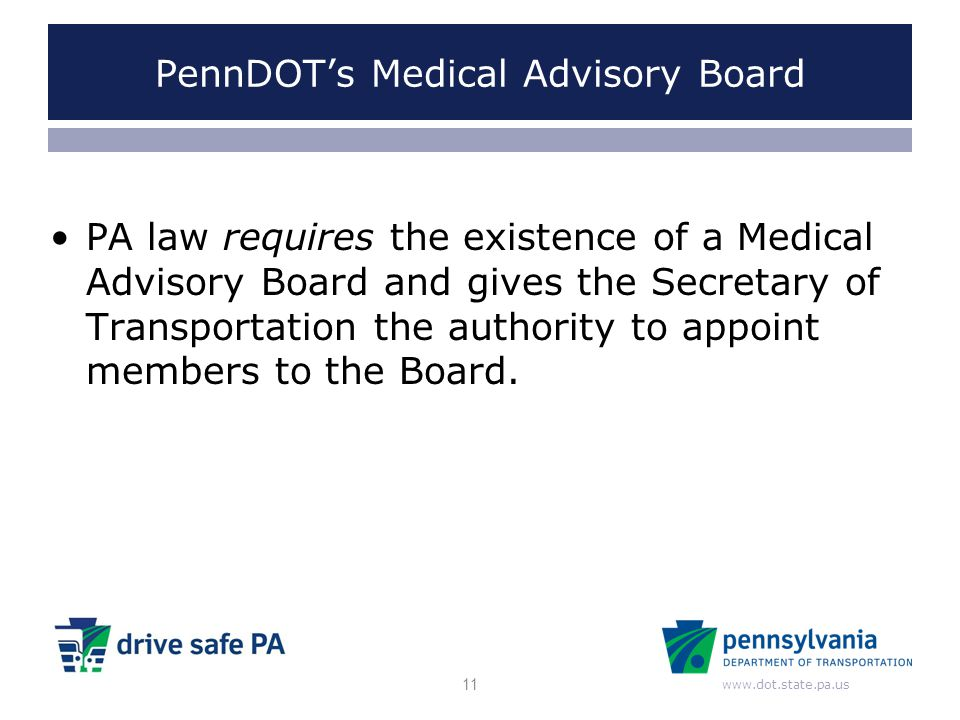 PennDOT's Medical Advisory Board