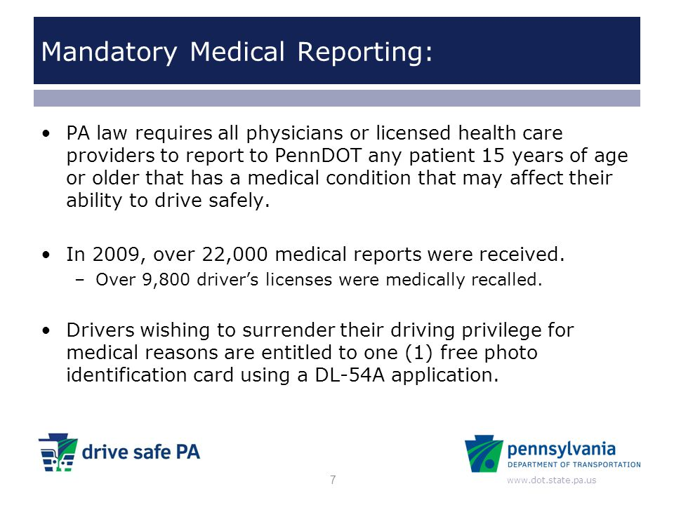 Mandatory Medical Reporting: