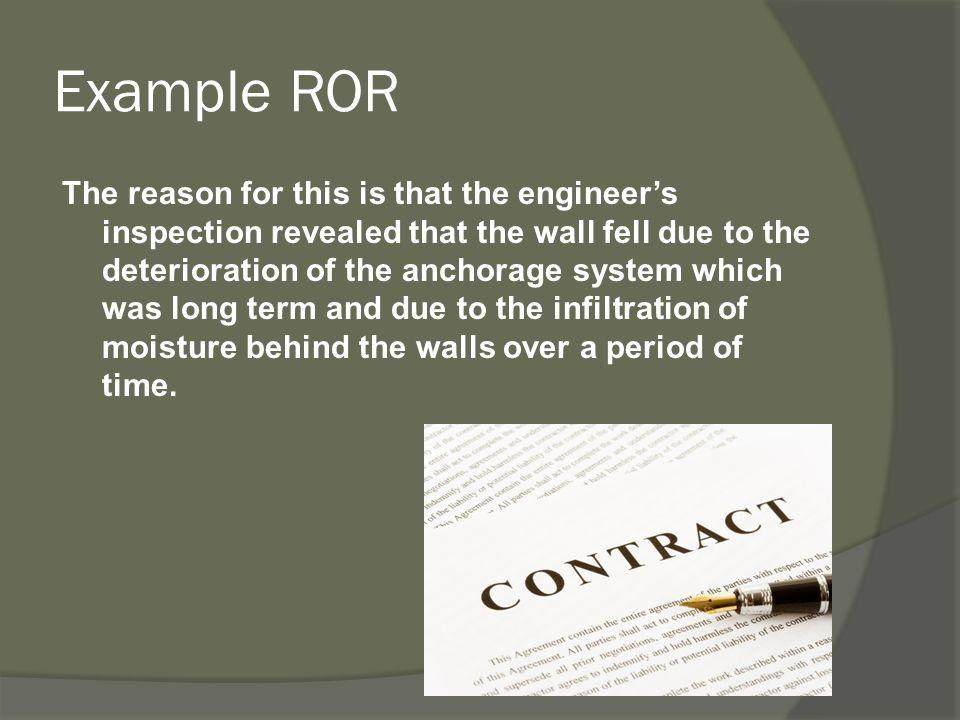 Example ROR