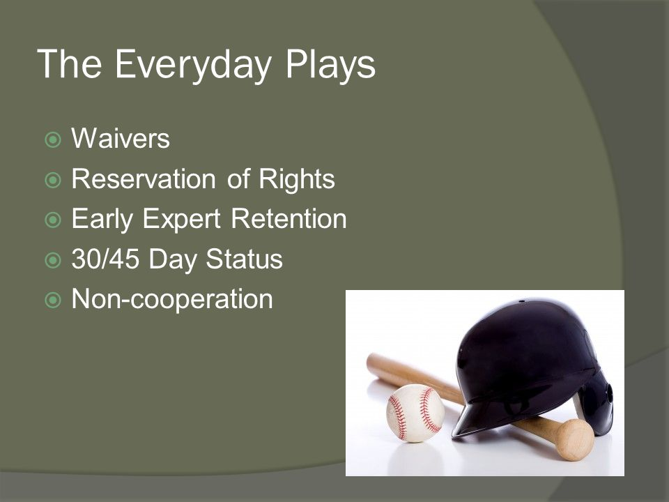 The Everyday Plays Waivers Reservation of Rights