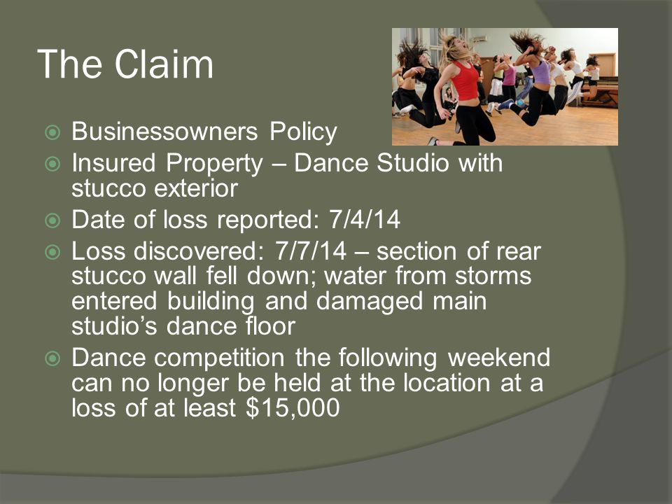 The Claim Businessowners Policy