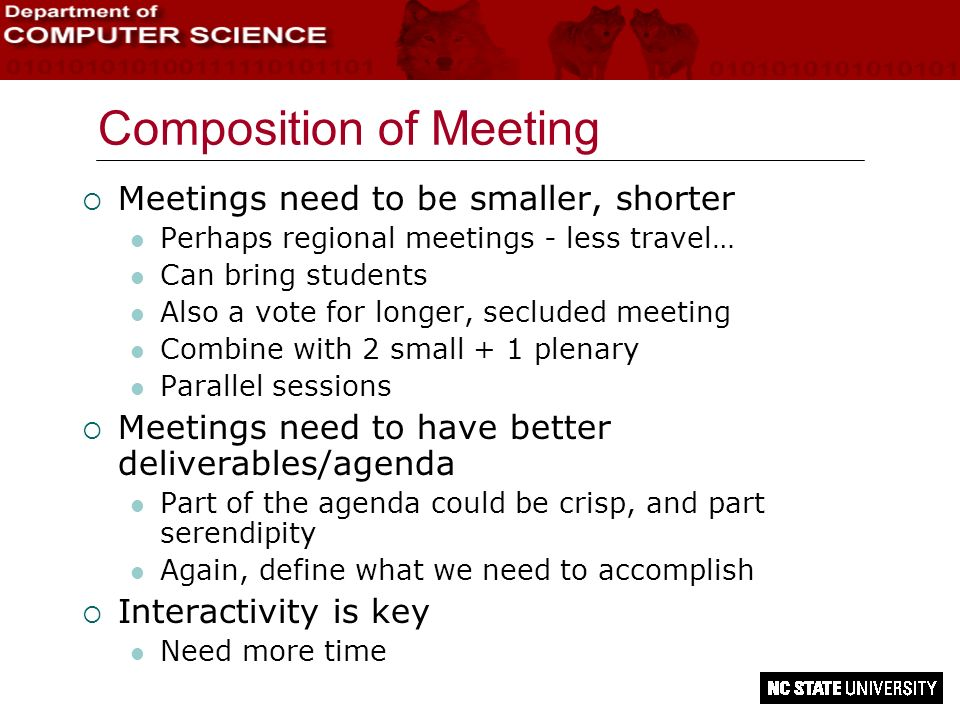Composition of Meeting