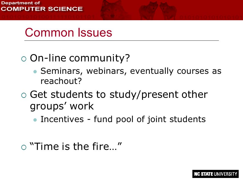 Common Issues On-line community