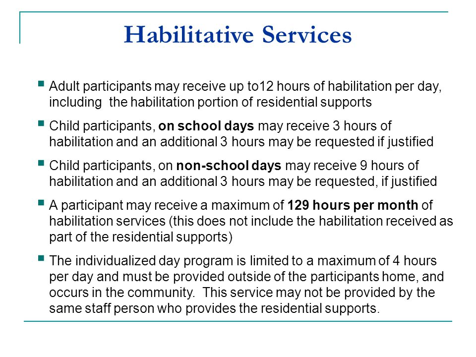 Habilitative Services
