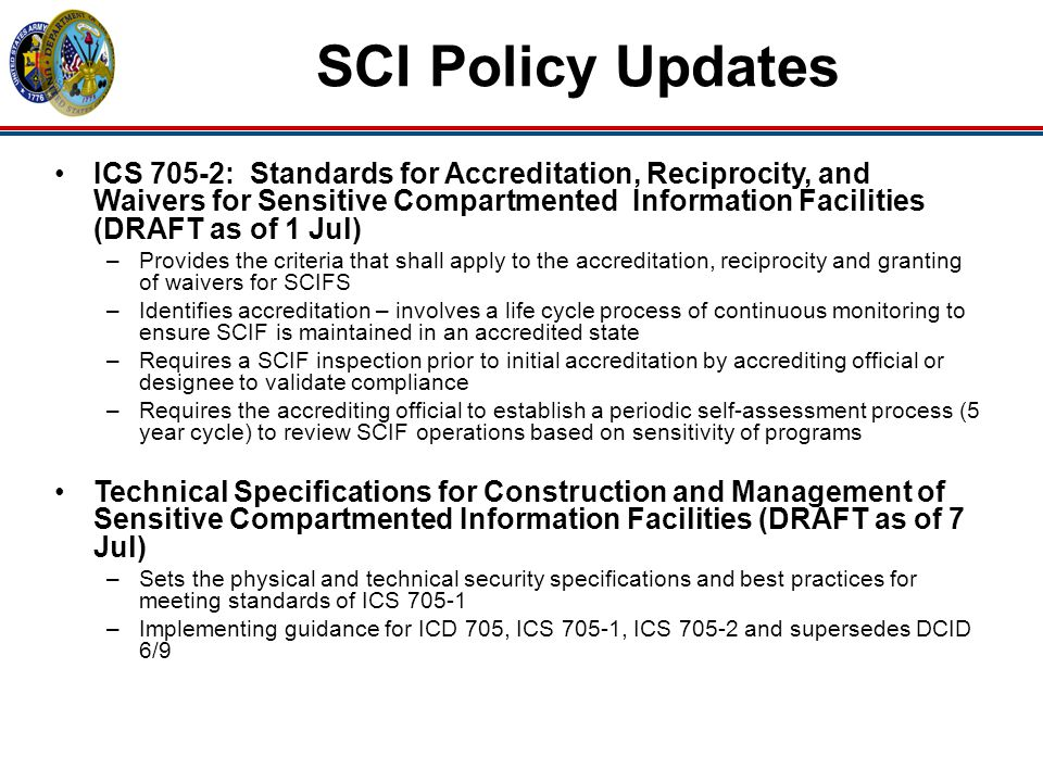 SCI Policy Updates