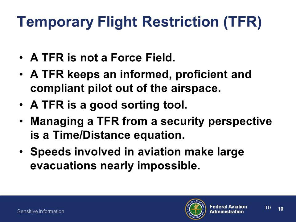 Temporary Flight Restriction (TFR)