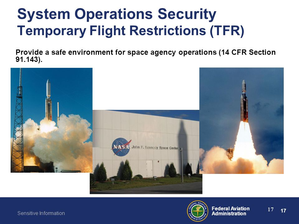System Operations Security Temporary Flight Restrictions (TFR)