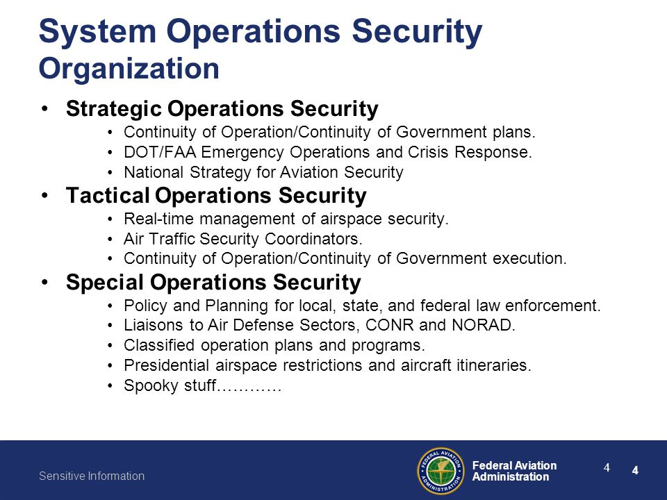 System Operations Security Organization