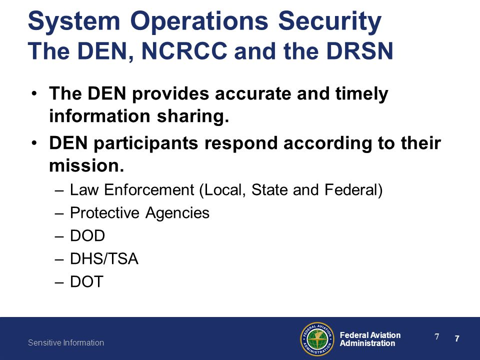 System Operations Security The DEN, NCRCC and the DRSN