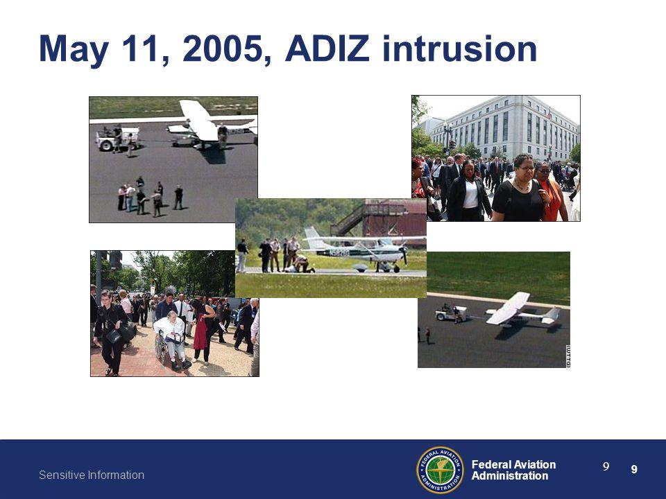 May 11, 2005, ADIZ intrusion
