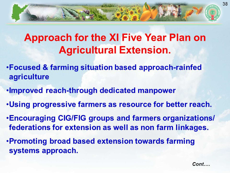 Approach for the XI Five Year Plan on Agricultural Extension.