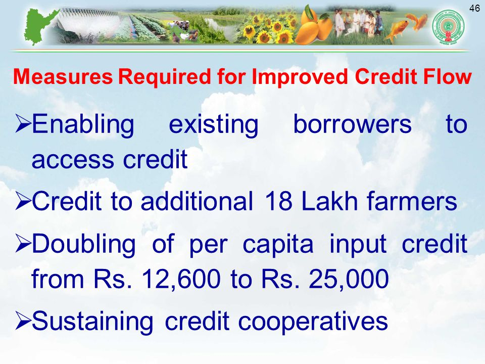 Measures Required for Improved Credit Flow